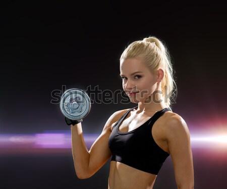 Mujer bíceps fitness dieta Foto stock © dolgachov