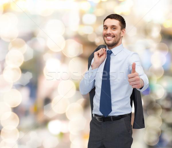 Sonriendo jóvenes empresario negocios Foto stock © dolgachov
