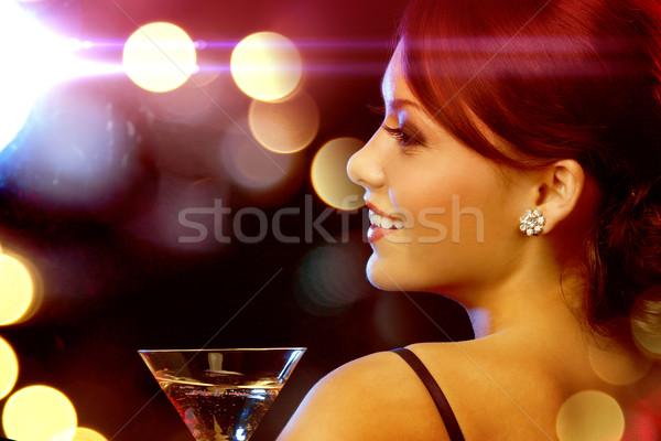 Kadın kokteyl lüks vip gece hayatı parti Stok fotoğraf © dolgachov