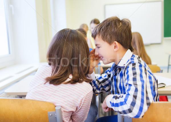 улыбаясь школьница одноклассник уха образование Сток-фото © dolgachov
