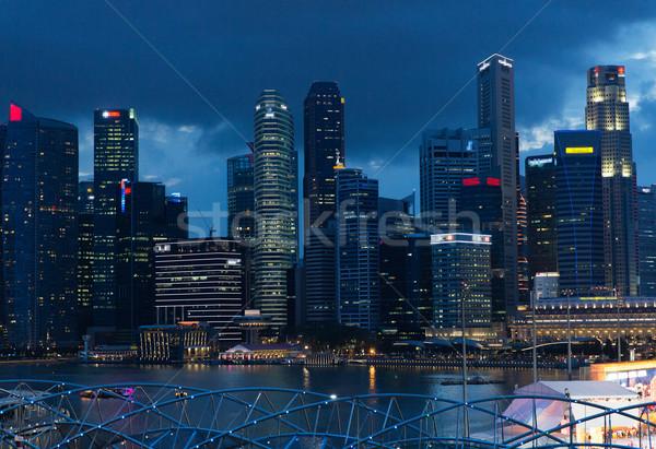 Güzel görmek Bangkok şehir gece seyahat tatil Stok fotoğraf © dolgachov