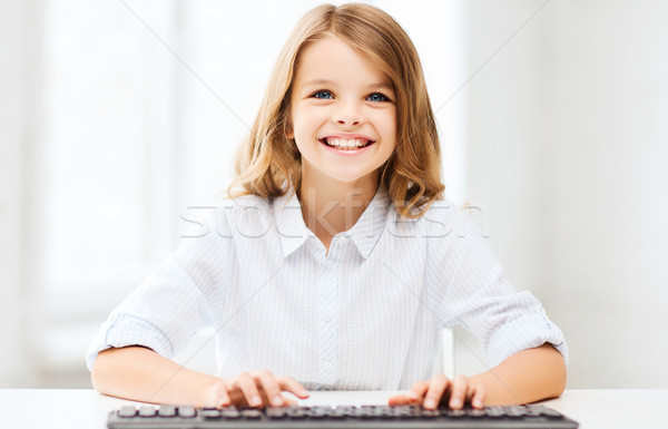 学生 少女 キーボード 教育 学校 将来 ストックフォト © dolgachov