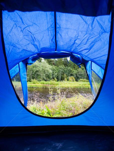 View blu turistica tenda ingresso natura Foto d'archivio © dolgachov