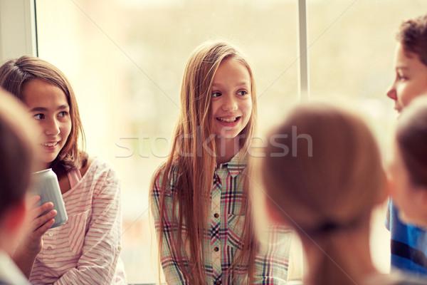 Groep school kinderen soda gang onderwijs Stockfoto © dolgachov