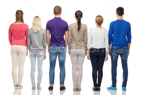 Grup insanlar geri aile cinsiyet yüksek insanlar Stok fotoğraf © dolgachov