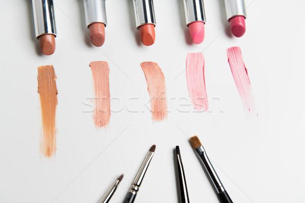 Közelkép terjedelem smink kozmetika szépség divat Stock fotó © dolgachov