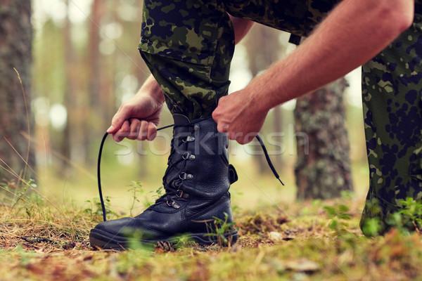兵士 森林 戦争 ハイキング 軍 ストックフォト © dolgachov