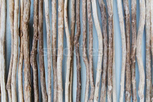 close up of wooden sticks Stock photo © dolgachov