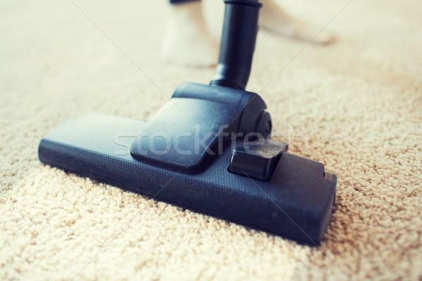 пылесос очистки ковер домой люди Сток-фото © dolgachov
