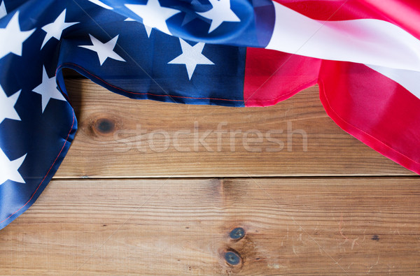 close up of american flag on wooden boards Stock photo © dolgachov