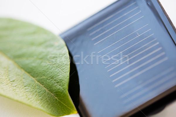 Zonne batterij cel recycling energie Stockfoto © dolgachov