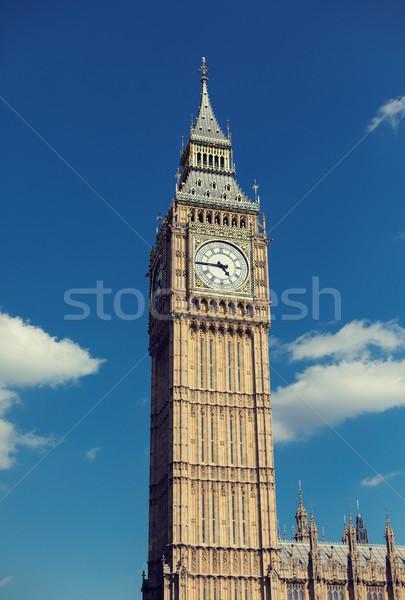 Foto d'archivio: Big · Ben · clock · torre · Londra · Inghilterra