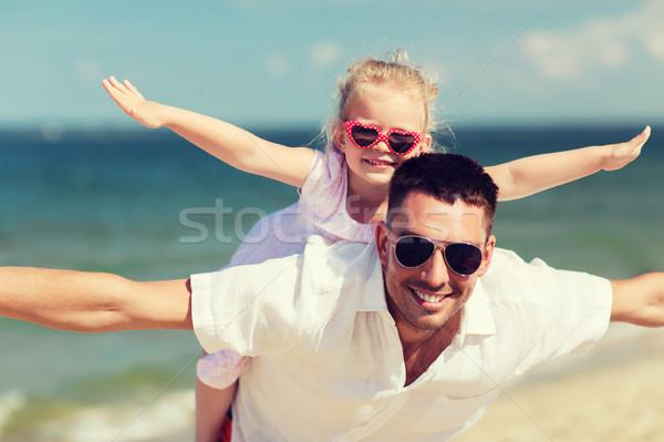 幸せな家族 夏 ビーチ 家族 旅行 ストックフォト © dolgachov