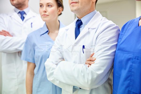 Lekarzy szpitala korytarz kliniki zawód Zdjęcia stock © dolgachov