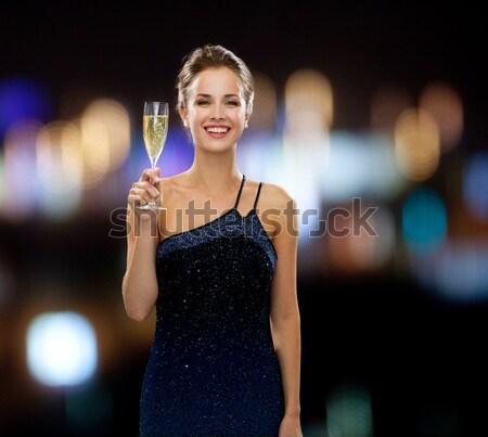 Gelukkig jonge vrouwen dansen nachtclub disco partij Stockfoto © dolgachov