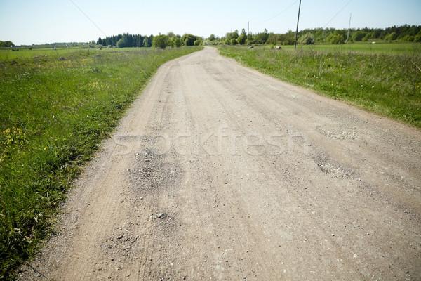 Vidéki út nyár utazás utazás vidék természet Stock fotó © dolgachov