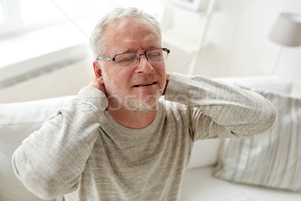 Сток-фото: старший · человека · страдание · домой · здравоохранения · более