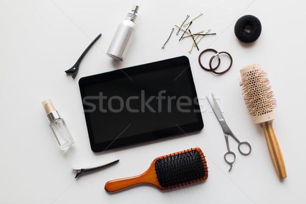 Tijeras otro pelo herramientas belleza Foto stock © dolgachov