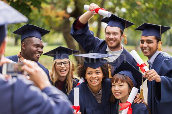Öğrenciler resim eğitim mezuniyet Stok fotoğraf © dolgachov