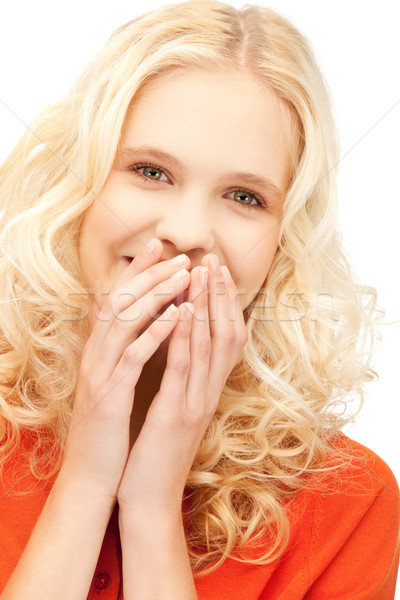 смеясь женщину ярко фотография красивой Сток-фото © dolgachov