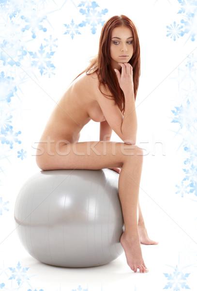 девушки мяча классический художественный нагота фотография Сток-фото © dolgachov
