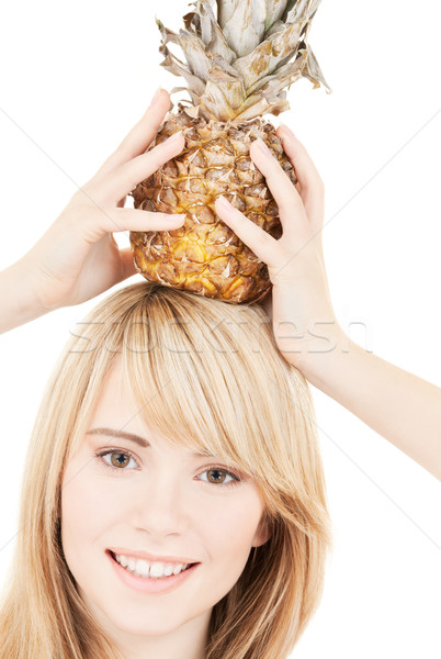 パイナップル 明るい 画像 ブロンド 女性 食品 ストックフォト © dolgachov