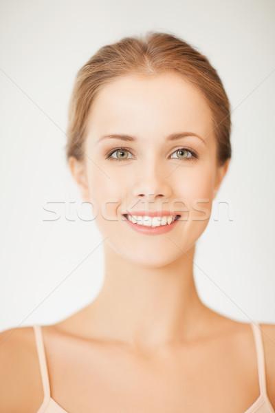 ストックフォト: 若い女性 · クリーン · 顔 · 小さな · 美人
