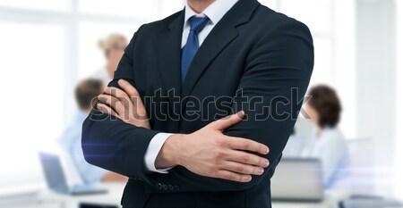 Suit cravatta uomini d'affari ufficio business Foto d'archivio © dolgachov