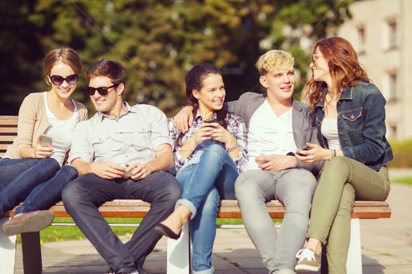 студентов глядя образование технологий Сток-фото © dolgachov