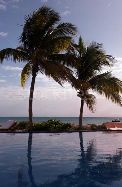 Schwimmbad · Tropischen · Strand · Urlaub · Strand