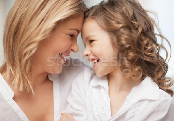 Mutter Tochter hellen Bild Haus Stock foto © dolgachov