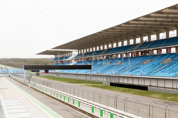 empty speedway and bleachers on stadium Stock photo © dolgachov
