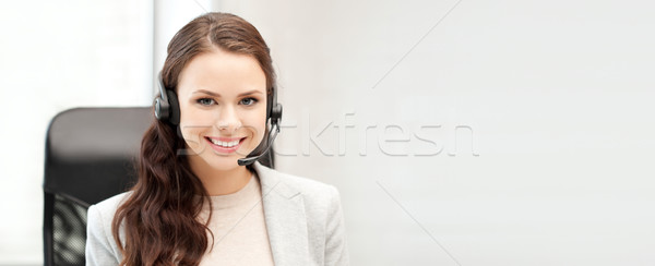 helpline operator with laptop computer Stock photo © dolgachov