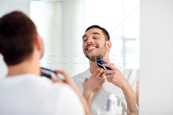 Hombre barba bano belleza higiene Foto stock © dolgachov
