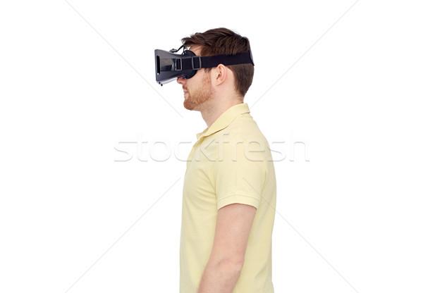 Foto d'archivio: Uomo · virtuale · realtà · auricolare · occhiali · 3d · 3D
