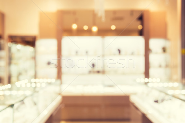 jewelry store blurred background Stock photo © dolgachov