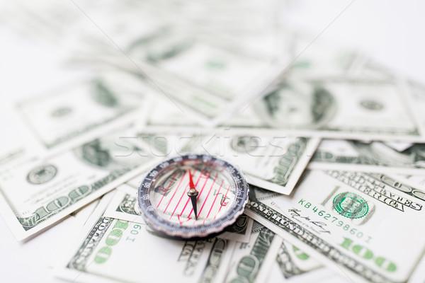 Bússola dólar dinheiro negócio economia Foto stock © dolgachov