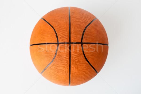 close up of basketball ball over white background Stock photo © dolgachov