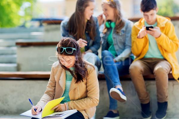студент девушки страдание Одноклассники образование Сток-фото © dolgachov