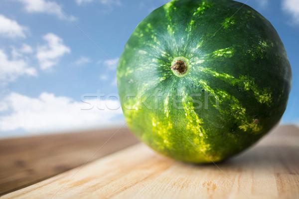 close up of watermelon on cutting board Stock photo © dolgachov