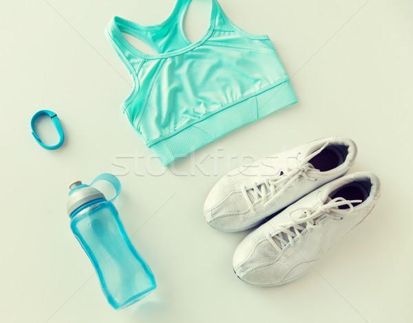 Közelkép sportruha karkötő üveg sport fitnessz Stock fotó © dolgachov