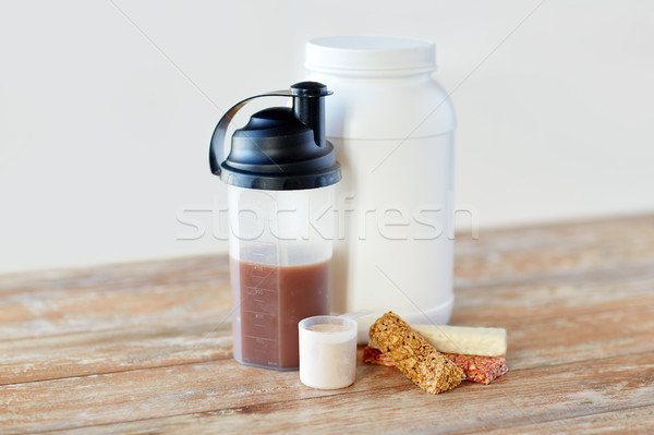 food and sports nutritional additives on table Stock photo © dolgachov
