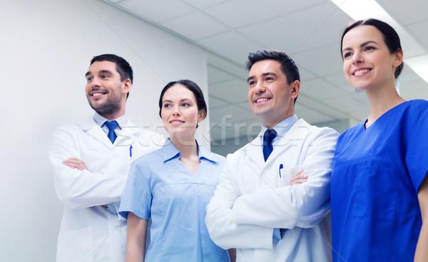 группа счастливым врачи больницу клинике профессия Сток-фото © dolgachov