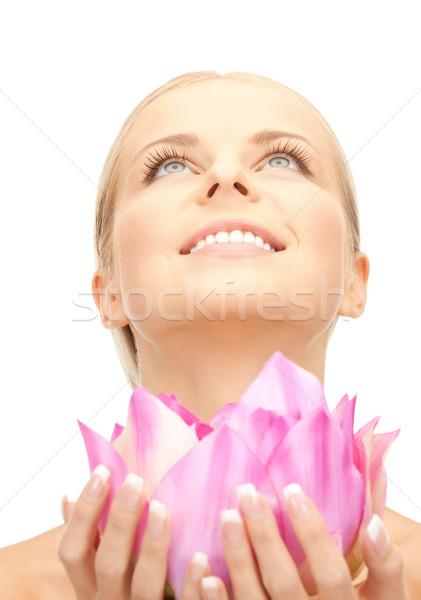 Bela mulher quadro mulher menina pele Foto stock © dolgachov