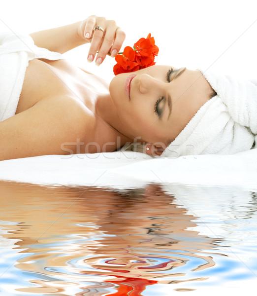 spa relaxation on white sand #2 Stock photo © dolgachov