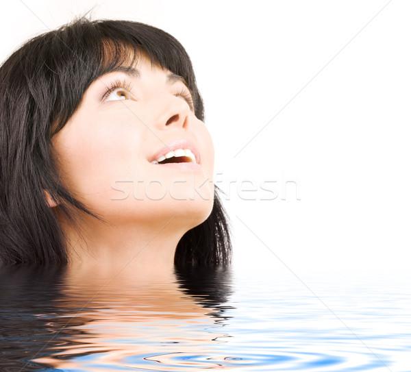 Vay resim mutlu kadın su Stok fotoğraf © dolgachov