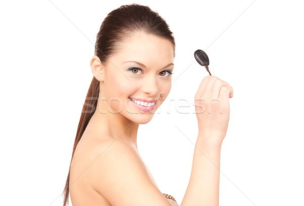 幸せ 女性 車のキー 画像 白 笑顔 ストックフォト © dolgachov