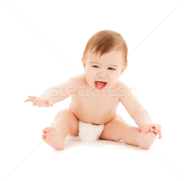 crying baby with erupting teeth Stock photo © dolgachov
