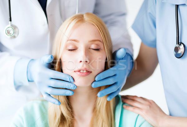 Plastik cerrah doktor hasta sağlık tıbbi Stok fotoğraf © dolgachov