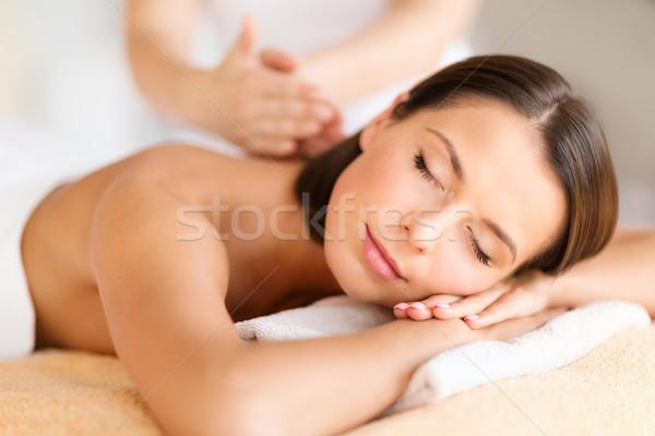 Stockfoto: Mooie · vrouw · spa · salon · massage · gezondheid · schoonheid